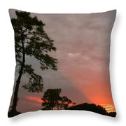 Red Rays Throw Pillow