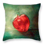 Red Red Apple Throw Pillow