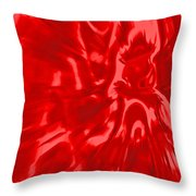 Red, Red Lava Throw Pillow