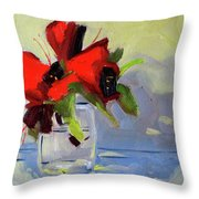 Red Rhody Throw Pillow