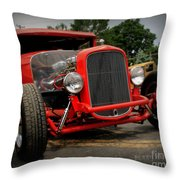 Red Ride 2 Throw Pillow