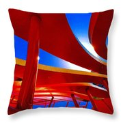 Red Ride Blue Sky Throw Pillow