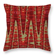 Red Ripe Pomagranite Abstract Throw Pillow