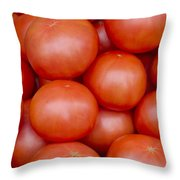 Red Ripe Tomatoes Throw Pillow