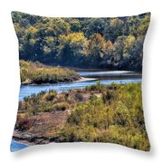 Red River Bend Throw Pillow
