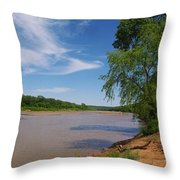 Red River Gainesville Texas East Throw Pillow
