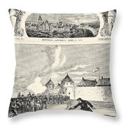 Red River Rebellion, 1870 Throw Pillow