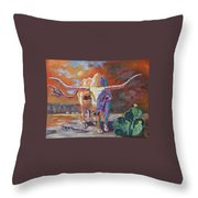 Red River Showdown Throw Pillow by J P Childress