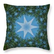 Red River Star Kaleidoscope 1 Throw Pillow