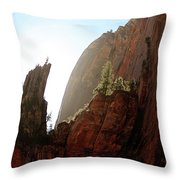 Red Rock At Zion Throw Pillow