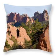 Red Rock Canyon And Garden Of The Gods Throw Pillow
