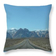 Red Rock Canyon Drive Throw Pillow