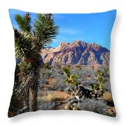 Red Rock Canyon Joshua Tree 2 Throw Pillow