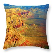 Red Rock Canyon Nevada Vertical Image Throw Pillow