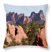 Red Rock Canyon Open Space Park And Garden Of The Gods Throw Pillow