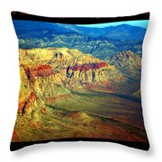 Red Rock Canyon Poster Print Throw Pillow