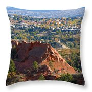 Red Rock Canyon Rock Quarry And Colorado Springs Throw Pillow