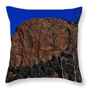 Red Rock Cliff Throw Pillow