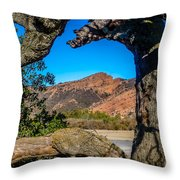 Red Rock Cliffs Throw Pillow