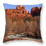 Red Rock Crossing Sedona Arizona Throw Pillow