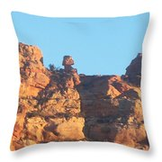 Red Rock Easter Island Throw Pillow