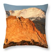 Red Rock Throw Pillow by Eric Glaser