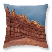 Red Rock Formation Throw Pillow