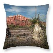 Red Rock Formation In Sedona Arizona Throw Pillow
