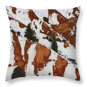 Red Rock Greenery Throw Pillow