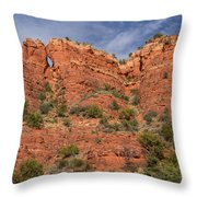 Red Rock Keyhole Throw Pillow