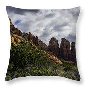 Red Rock Landscape From Sedona Arizona Throw Pillow