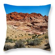Red Rock Mountain Throw Pillow