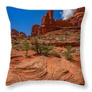 Red Rock Park Avenue Throw Pillow
