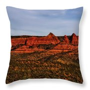 Red Rock Peaks 23 Throw Pillow