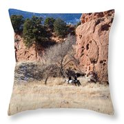Red Rock Riders Throw Pillow