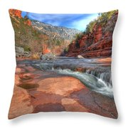 Red Rock Sedona Throw Pillow