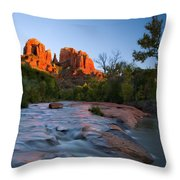 Red Rock Sunset Throw Pillow