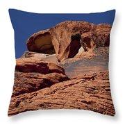 Red Rock Texture 2 Throw Pillow