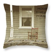 Red Rocker Quote Throw Pillow