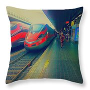 Train To Venice Throw Pillow