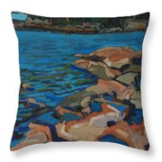 Red Rocks And Pooled Water Throw Pillow
