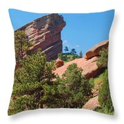 Red Rocks Landscape Throw Pillow