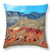Red Rocks Nevada Throw Pillow