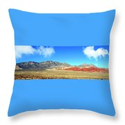 Red Rocks Nevada Panorama Throw Pillow