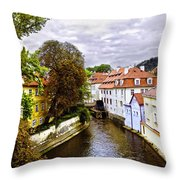 Red Roofs Of Prague - 2015 Throw Pillow