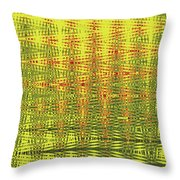 Red Rose Abstract # 0050pcwc Throw Pillow