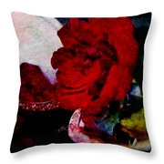 Red Rose And The Mirror Throw Pillow