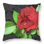 Red Rose For My Lady Throw Pillow