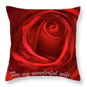 Red Rose II Throw Pillow