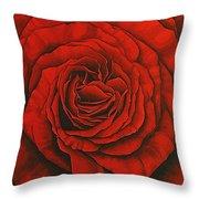 Red Rose II Throw Pillow